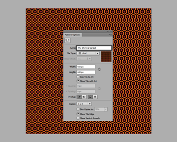 giving the pattern a custom name