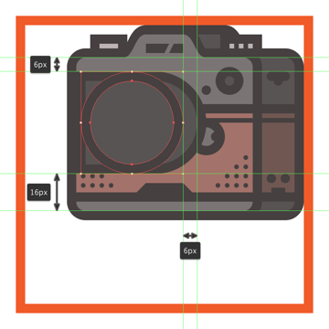 adding the center connector ring to the body of the cameras lens