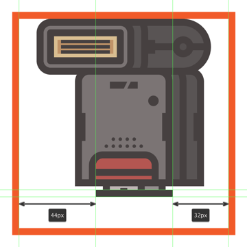 adding the horizontal detail line to the bottom of the flashs connector