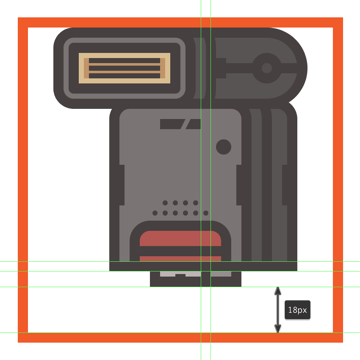 creating and positioning the main shapes for the side section of the flashs connector