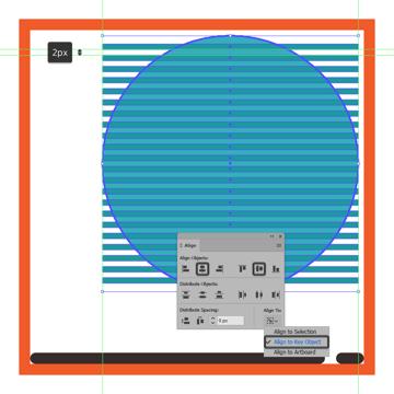 adding the horizontal color stripes to the circular present box