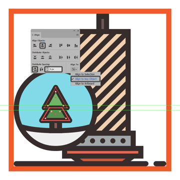 creating and positioning the main shapes for the christmas trees upper section