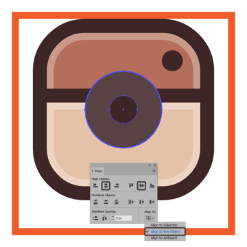 adding the darker section to the instagram icons lens