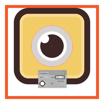 adding the inner shadow to the snapchat icons eye