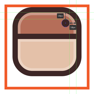 adding the little circle to the top right corner of the instagram icons body