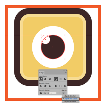 adding the little cutout to the snapchat icons eye