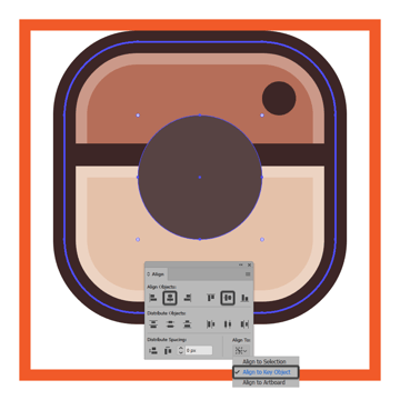 creating and positioning the main shape for the instagram icons lens