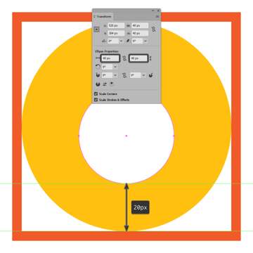 creating and positioning the main shape for the alarm icons body