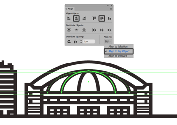 adding the third arch line to the domes roof