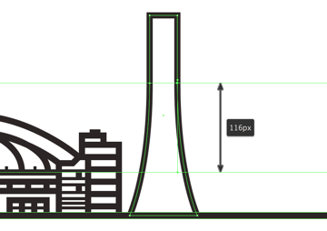 adjusting the curvature of the cn towers base
