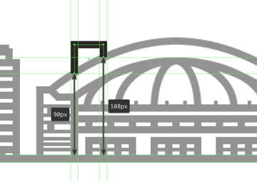 adjusting the main shape of the illustrations third building