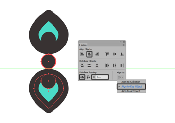 creating and positioning the main shapes for the top dividers bottom petal