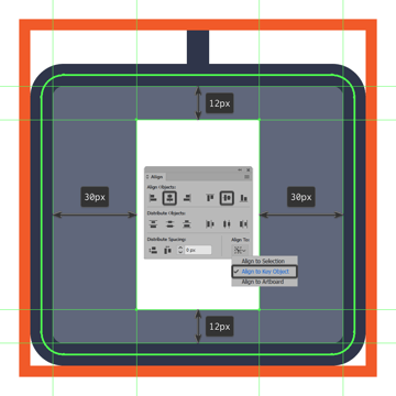 creating and positioning the mouse icons main shape