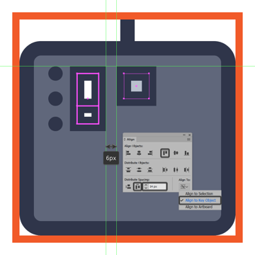 creating and positioning the main shapes for the midi controller icons first d pad button