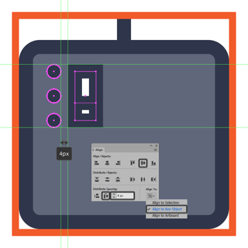 creating and positioning the main shapes for the midi controller icons volume slider