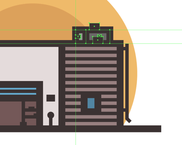 adding details to the garages air conditioner unit