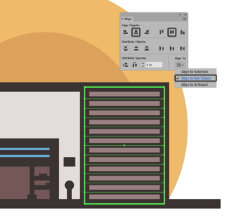 adding the horizontal detail lines to the garages side section
