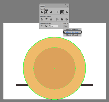 creating and positioning the backgrounds smaller circle