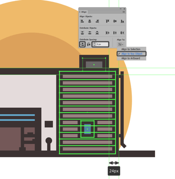 creating and positioning the main shapes for the air conditioner units side section