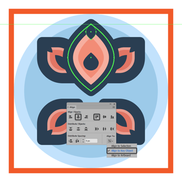 adding the smaller insertion to the flower icons larger petal