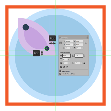 adding the smaller circle to the upper section of the butterfly icons left wing