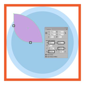 adjusting the shape of the upper section of the butterfly icons left wing
