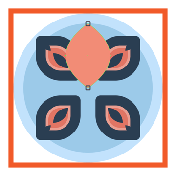 adjusting the shape of the flower icons larger petal