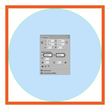 creating and positioning the repeating backgrounds larger circle