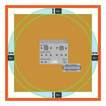 creating and positioning the main shape for the center section of the sun icon