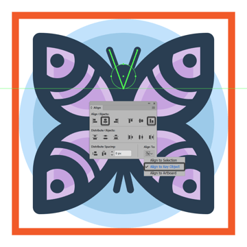 finishing off the butterfly icon