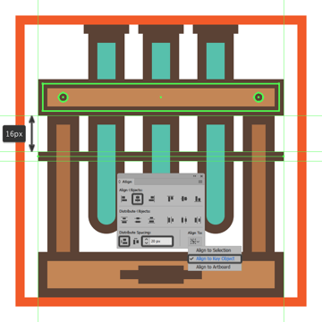 adding the horizontal tube holding section to the glassware icons wooden rack