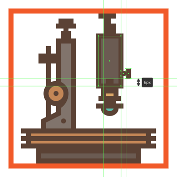 adding the side adjustment wheel to the microscopes main body