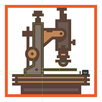 finishing off the microscope icon