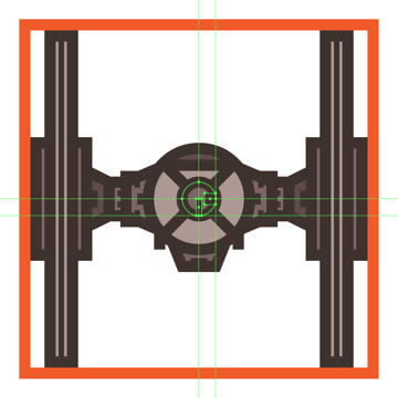 adding details to the tie fighters access hatch