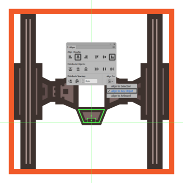 adding the bottom insertion to the tie fighters rear end