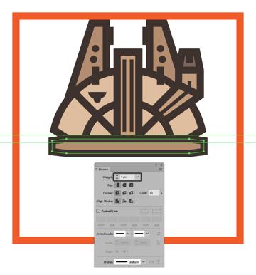 adding the outline to the millennium falcons center body