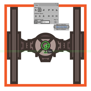 adding the bottom detail to the tie fighters command pod