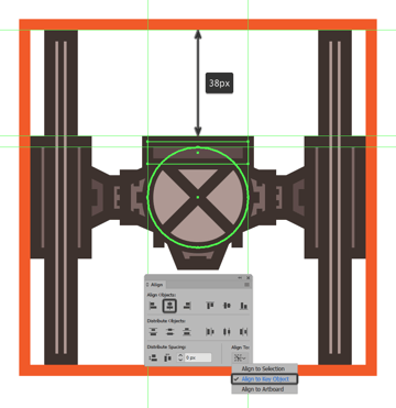 creating the main shapes for the tie fighters viewport