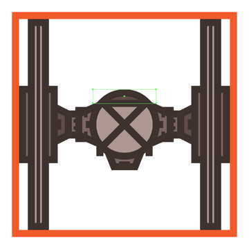masking the tie fighters viewport