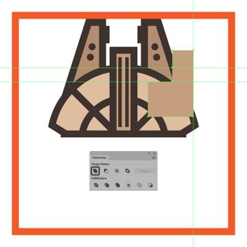 uniting the composing shapes of the millennium falcons cockpit into a single larger shape