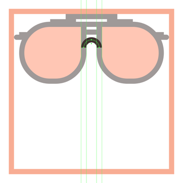adjusting the glasses nose section