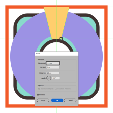 creating and positioning the main shape for the inflatable rings top trapezoid