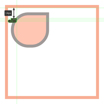 creating and positioning the main shape for the upper section of the glasses left end piece