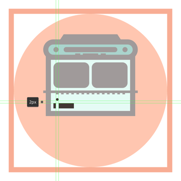 adding the circular light to the left side of the buss body