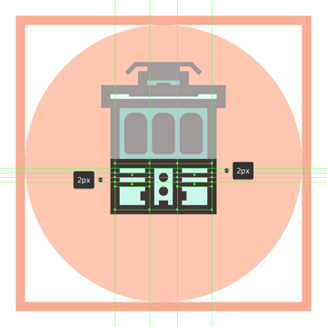 adding the horizontal detail lines to the trams bottom section