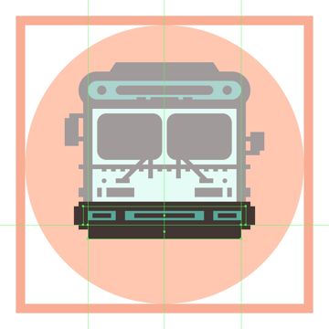 adding the larger rectangle to the bottom of the buss front bumper