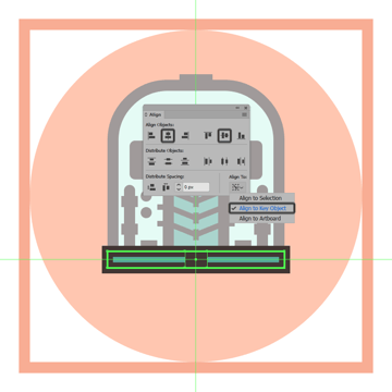 adding the center rectangle to the trains bottom section