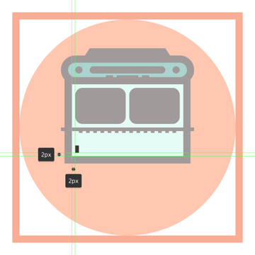 adding the smaller rectangle light to the left side of the buss body