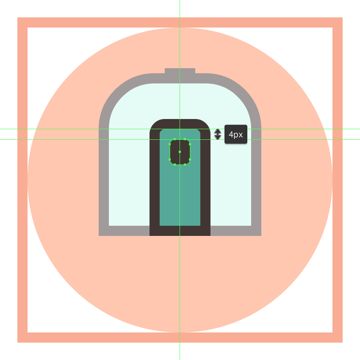 adding the window to the trains door
