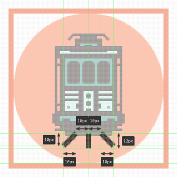 finishing off the tram icon